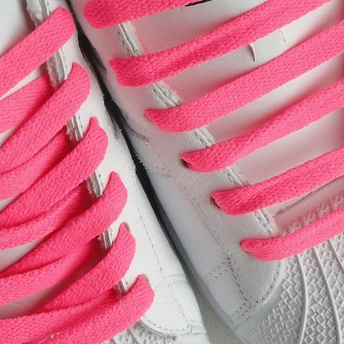 Hot Pink Flat Thin Shoe Laces [9-HPK