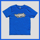 Bboy Laces Logo T-Shirt Bluebird Blue