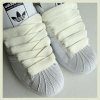 Cream 20mm XL Fat Laces