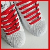 Red Flat Thin Shoe Laces