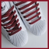 Burgundy Flat Thin Shoe Laces