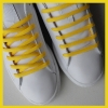 Yellow Oval SB Thin Shoe Laces