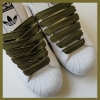Olive Green 15mm Medium Fat Laces