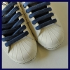 Navy Blue Cotton Vintage Lux Laces