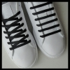 Black Oval SB Thin Shoe Laces