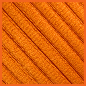 Orange Oval SB Thin Shoe Laces