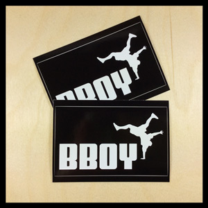 Bboy Laces Big Cat Logo Stickers Black