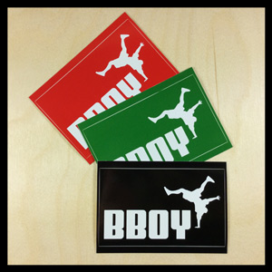 Bboy Laces Big Cat Logo Stickers Multi