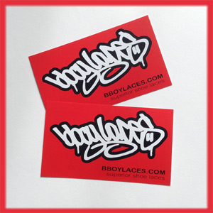 Bboy Laces Red Stickers 2