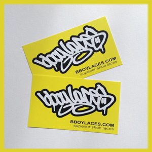 Bboy Laces Yellow Stickers 2