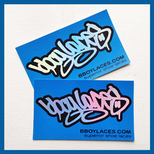 Bboy Laces Blue Stickers 3 - Petrol