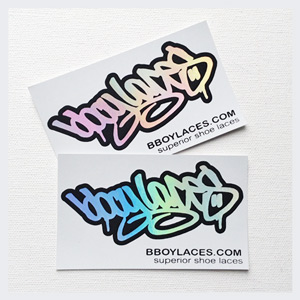 Bboy Laces White Stickers 3 - Petrol