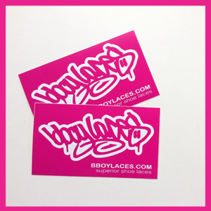 Bboy Laces Pink Stickers