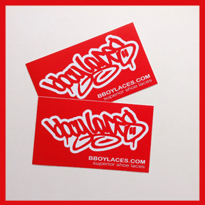 Bboy Laces Red Stickers