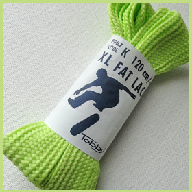 Tobby XL Fat Laces Light / Pastel Green