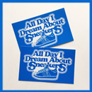 A.D.I.D.A.S. All Day I Dream Sticker Blue