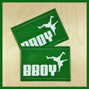 Bboy Laces Big Cat Logo Stickers Green