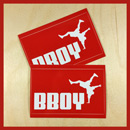 Bboy Laces Big Cat Logo Stickers Red