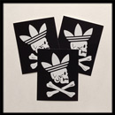 adidas x Neighborhood Zivil Courage Sticker Black