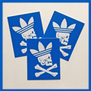 adidas x Neighborhood Zivil Courage Sticker Blue