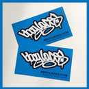 Bboy Laces Blue Stickers 2
