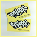 Bboy Laces Cream Stickers 2