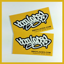 Bboy Laces Gold Stickers 2