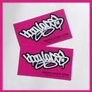 Bboy Laces Hot Pink Stickers 2