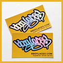 Bboy Laces Gold Stickers 3 - Petrol