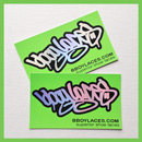 Bboy Laces Green Stickers 3 - Petrol