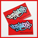 Bboy Laces Red Stickers 3 - Petrol
