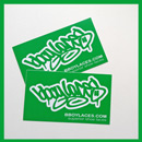 Bboy Laces Green Stickers