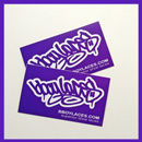 Bboy Laces Purple Stickers
