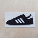 adidas Superstar 35th Anniversary Sticker - Etched Black